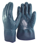 Jersey and Terry Liner Full Coated Nitrile Gloves pictures & photos