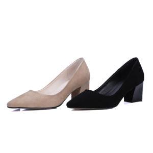 High Chunky Heel Sharp Toe Sexy Women Shoes