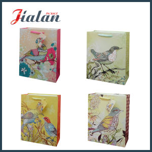 Natural Fresh Flowers Cotton Handle Rope Retail Paper Chocolate Bag pictures & photos
