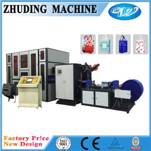 New Full Automaticnonwoven Box Bag Making Machine with Handle pictures & photos