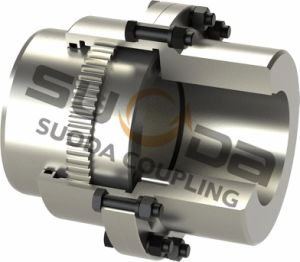 Suoda Gear Coupling Large Size Drum Gear Coupling with Intermediate Shaft Large Transmission Torque Professional Coupling Manufacturer Gazz Type pictures & photos