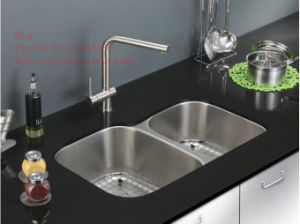Stainless Steel Kitchen Sink, Stainless Steel Under Mount Double Bowl Kitchen Sink with Cupc Certification pictures & photos