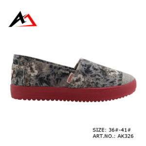 Injection Molding Shoes Cheap Casual Canvas for Women (AK326) pictures & photos