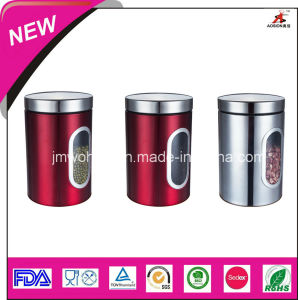 High Quality Stainless Steel Storage Canister (FH-KTE05)
