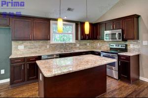 Modern L Shape Melamine Wood Kitchen Furniture/Kitchen Cabinets/Kitchen pictures & photos