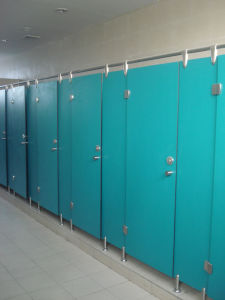 HPL Modular Toilet Partition and Nylon Accessories Manufacturer pictures & photos