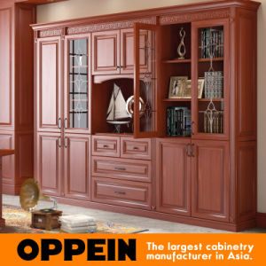 Oppein Duke Classic Cherrywood PVC Book Cabinet (SG21538) pictures & photos