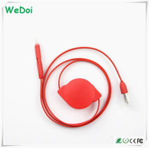 Wholesale Retractable USB Cable for iPhone & Android Phones (WY-CA05) pictures & photos