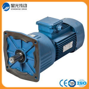 High Efficiency Helical Gearbox Gear Reduction Motor with Output Flange pictures & photos
