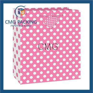 Medium Hot Pink Polka DOT Gift Bag pictures & photos