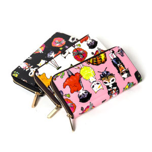 Beautiful Printing PU Leather Wallet (ZC0013) pictures & photos