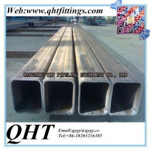 50mmx30mm Black Rectangular Steel Pipe on Hot Sale pictures & photos
