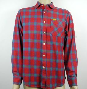 in Stock Items Red Checked Casual Shirts, Fashion Stock Garments pictures & photos