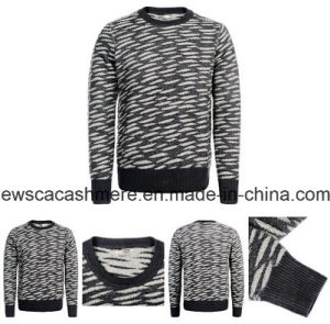 Men′s Pure Cashmere Sweater A16m-002CT with Tiger Stripes