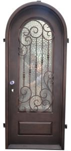 Round Top Wrought Iron Single Door pictures & photos