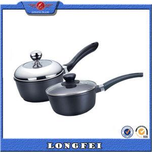 High Quality Black Color Die Cast Aluminum Milk Pan pictures & photos