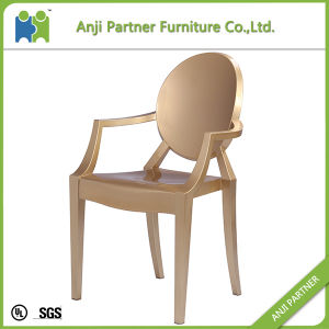 Cheap Luxurious Ghost Dining Chair in Glitter Golden Color Design (Melor-G) pictures & photos