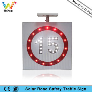 Manufacturer IP65 Aluminum Board Solar Road Speed Limit Sign pictures & photos