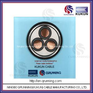6.35/11kv Cu/XLPE/Swa/PVC (or PE) Power Cable