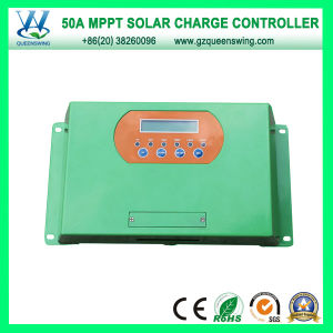 LCD Display 50A 12/24/48V MPPT Solar Charger Regulator (QWM-JR50A) pictures & photos
