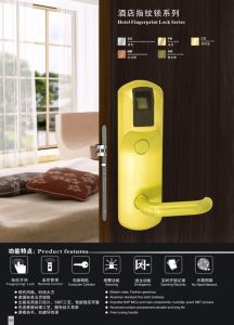 Fingerprint Door Lock with Hidden Touch Screen Button pictures & photos