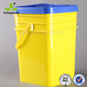Food Grade 20L Square Container with Lids Square Plastic Bucket pictures & photos