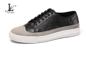 Fashion Leather and Canvas Casual Shoes (CAS-029)