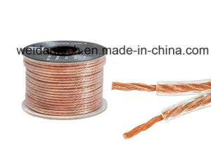 30meter Professional 12 Ga AWG Transparent Jacket Speaker Cable pictures & photos
