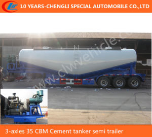 3-Axles 35 Cbm Cement Tanker Semi Trailer pictures & photos