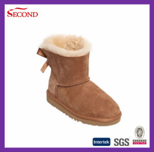 Brown Color Women′s or Children′s Winter Indoor Boots
