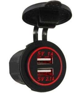 Dual USB Charger Adapter Socket Power Outlet 12V 24V LED Motorcycle Marine Car pictures & photos