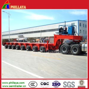 200 Tons Modular Flatbed Platform Hydraulic Steering Multi Axle Trailers pictures & photos