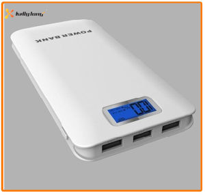 High Capacity Three Output 12000mAh Real Capacity Power Bank with LCD Display