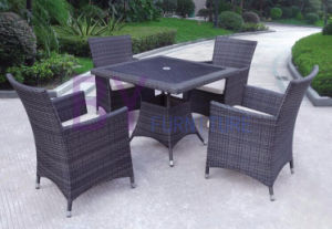 Commercial Restaurant Table Chairs Honey Rattan Dining Patio Furniture pictures & photos