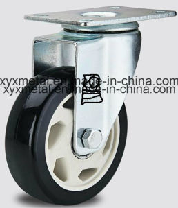 Medium Duty Double Beading PU Caster H-Technology PU Caster Heavy Caster Wheels pictures & photos