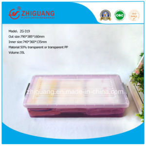 790*385*160mm Stackable Plastic Storage Box with Lid for Logistics Transportion pictures & photos