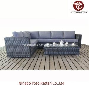 Grey Rattan Long Sofa for Outdoor (1502) pictures & photos
