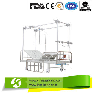Double Column Type Hospital Orthopaedics Traction Bed (Wooden Platform) pictures & photos