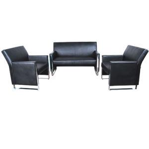 Black Color Excellent Barcelona Artificial Leather Sectional Sofa Set (FS-637) pictures & photos