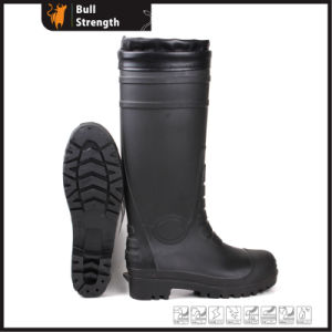 Knee Waterproof Safety Rain Boot with PU Edge (SN5127) pictures & photos