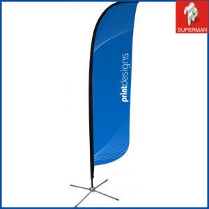 Custom Teardrop Beach Flag /Cheap Polyester Feather Banner Flag (SM050080)