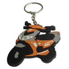 Cheap Wholesale Promotional Rubber Keychains Motorcycle pictures & photos