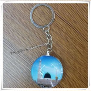 Decoration Glass Picture Religious Key Chain (IO-ck079) pictures & photos
