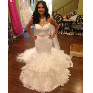 Sweetheart Bridal Ball Gown Lace Tulle Custom Made Wedding Dresses W20177 pictures & photos