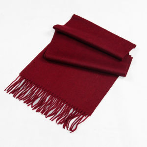 Dark Red Girl′s General Cashmere   Muffler  CD20FL pictures & photos