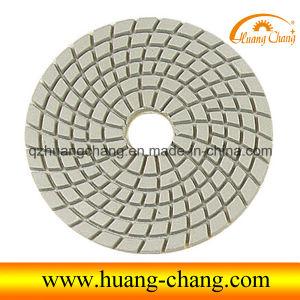 """4"""" White Ground Diamond Wet Polishing Pad for Granite"""