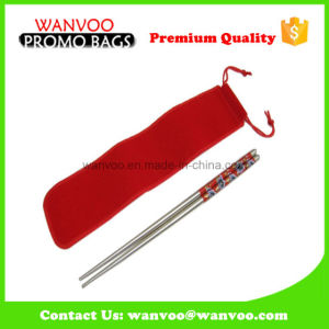 Luxurious Beautiful Recyclable Velvet Bag for Chopsticks pictures & photos
