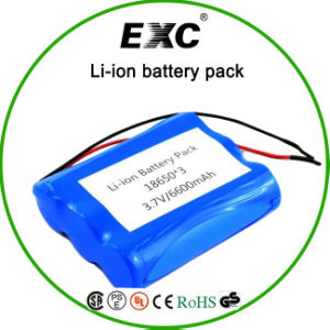 2016 Hot Sales 18650 6600mAh 3.7V Rechargeable Lithium Battery Pack pictures & photos
