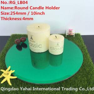 4mm Large Bevel Green Glass Candle Holder pictures & photos