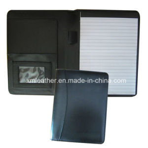 Non Zipped A5 Faux Leather Notepad Holder with Pen Loop pictures & photos